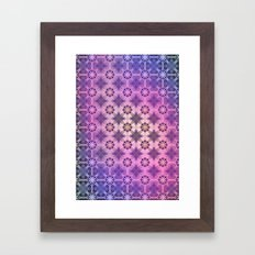 TEXTURE POP - Psychedelic | Mixed Colour | Pop | Abstract | Vector | Retro | Vintage Framed Art Print