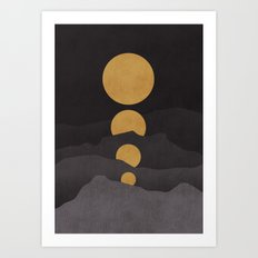 Rise Of The Golden Moon Art Print
