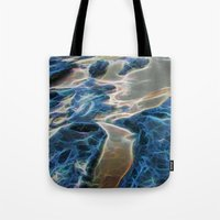 Abstract rock pool and sand on a beach in Queensland Tote Bag