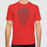 Yellow Skull Mens Fitted Tee Red SMALL