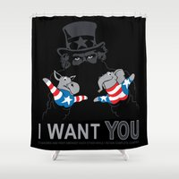 Uncle Scam Shower Curtain
