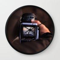 Medium Format Camera Dreams Wall Clock
