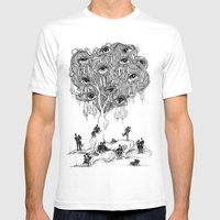 EscapeEyes Mens Fitted Tee White SMALL