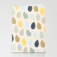 rain drops pattern Stationery Cards