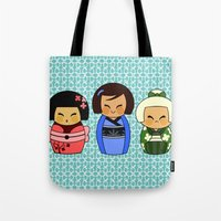 kokeshis (Japanese dolls) Tote Bag