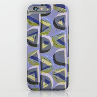 Blue Lino and Digital Pattern Print iPhone 6 Slim Case