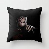 FREDDY KRUEGER! Throw Pillow