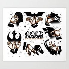Geek Shadows Art Print