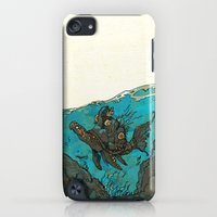 iPhone Cases featuring Vaalia - Turtlefish by Skeleton Robots