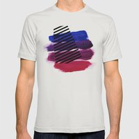 Magenta Broadcast Mens Fitted Tee Silver SMALL