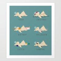 A sloth's life Art Print