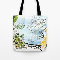 the only way out is up Tote Bag