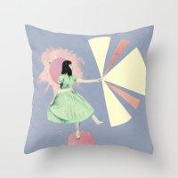 huaxi lilac Throw Pillow