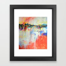 on the water,  expressive landscape, abstract Framed Art Print