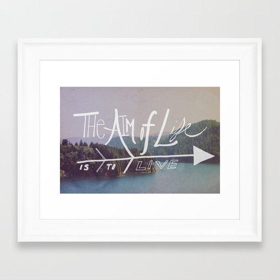 The Aim of Life II Framed Art Print
