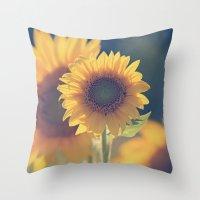 Sunflower 02 Throw Pillow