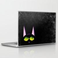 black cat Laptop & iPad Skins featuring Black cat  by AhaC