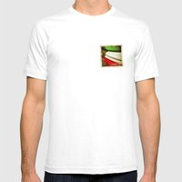 Grunge sticker of Kuwait flag Mens Fitted Tee White SMALL