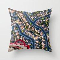 Blissful Suburbia  Throw Pillow