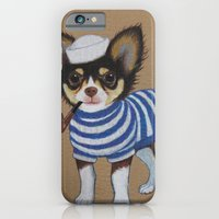 iPhone Cases featuring Chihuahua - Sailor Chihuahua by PaperTigress