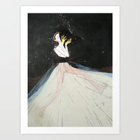 El Beso Art Print
