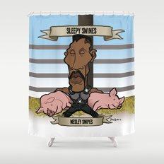 Sleepy Swines (Wesley Snipes) Shower Curtain