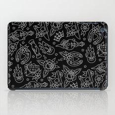 Classic Black Tattoo Pattern  iPad Case