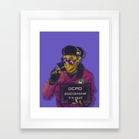 Joker Goon Framed Art Print