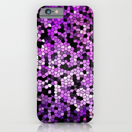 STAINED GLASS PURPLES iPhone & iPod Case