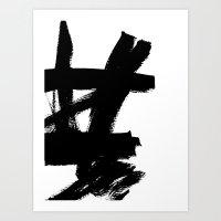 Abstract Black & White 2 Art Print