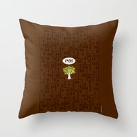 The F Situation Throw Pillow
