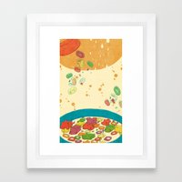 HIPPO CEREAL Framed Art Print