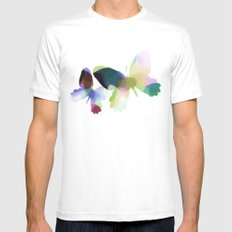 Butterflies SMALL Mens Fitted Tee White