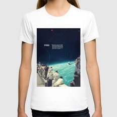 Free Womens Fitted Tee White SMALL