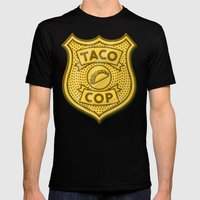 Taco Cop Mens Fitted Tee Black SMALL