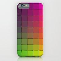 Rainbow Squares iPhone 6 Slim Case