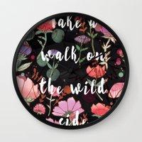 Take A Walk On The Wild … Wall Clock