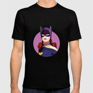 Batgirl Mens Fitted Tee Black SMALL