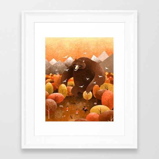 Giant bear Framed Art Print