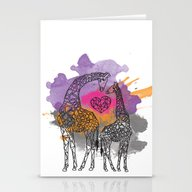 GEOMETRIC GIRAFFES Stationery Cards