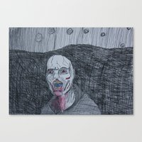 Canvas Print featuring Zombie by Tara Bateman