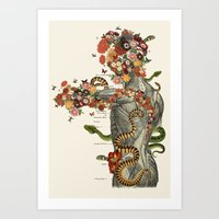 Serpens - Anatomical collage art by bedelgeuse Art Print