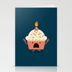 Cupcake On Fire Stationery Cards