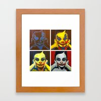 Process 01 (smile, darn ya, smile) Framed Art Print