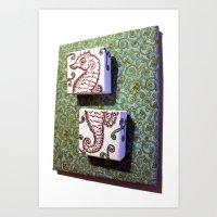 Art Print featuring Seahorse by Gnarleston