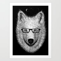 WHITE SPECTACLE Art Print