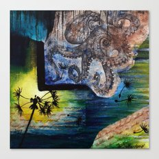 Literary Octopus Canvas Print