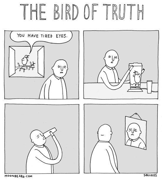 Moonbeard - The Bird of Truth Art Print