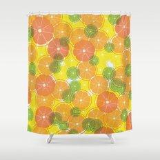 oranges & lemons, grapefruit & lime Shower Curtain