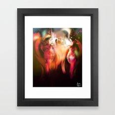 Rose Lines [Figures Illustration] Framed Art Print